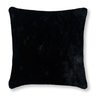 Thread and Weave Fury Tail Black 20-inch Faux Fur Pillow