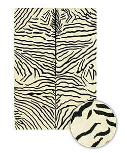 Handmade Contemporary Animal-Print Mandara Rug (8' x 11')