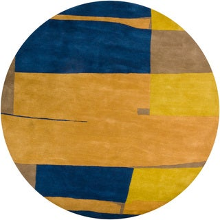Hand-tufted Contemporary Mandara Rug (8' Round)