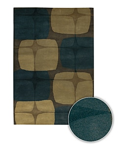 Wool Hand-tufted Contemporary Mandara Rug (8' x 11')