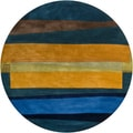 Hand-tufted Mandara Contemporary Wool Rug (8' Round)
