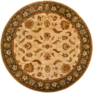 Hand-tufted Mandara Traditional Rug (8' Round)