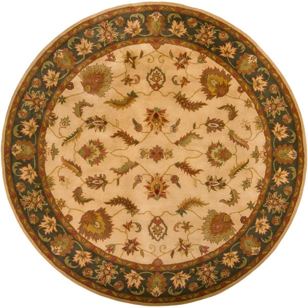 Hand-tufted Mandara Traditional Rug (8' Round)