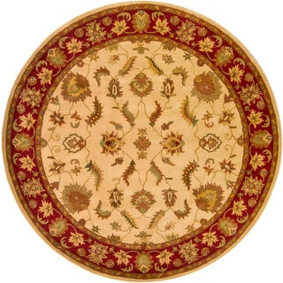 Hand-Tufted Transitional Multicolored Mandara Rug (8' Round)