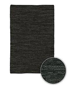 Handmade Mandara Leather Rug (8' x 11')