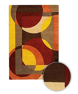 Hand-tufted Mandara Contemporary Wool Rug (8' x 11')