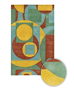 Geometric Hand-tufted Contemporary Mandara Rug (8' x 11')