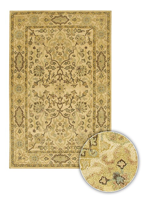 Hand-tufted Mandara Traditional Wool Rug (8' x 11')