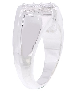 Simon Frank 14k White Gold Overlay Double Dare CZ Ring