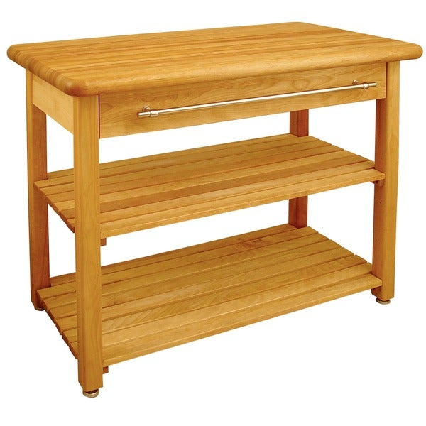 French Country Harvest Butcher Block Table 3429164