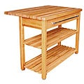 Contemporary Harvest Table with Drop Leaf