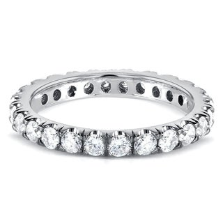 Annello 14k Gold 1ct TDW Diamond Eternity Band (G-H, I1-I2)