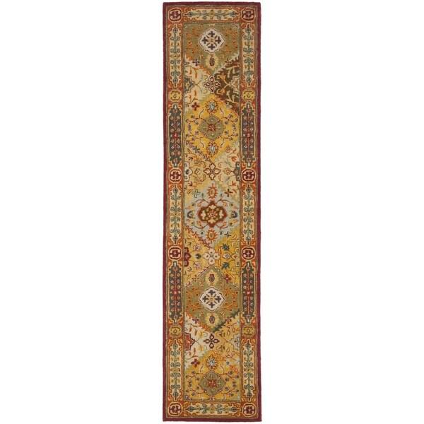 Safavieh Handmade Diamond Bakhtiari Multi/ Red Wool Runner (2'3 x 12')