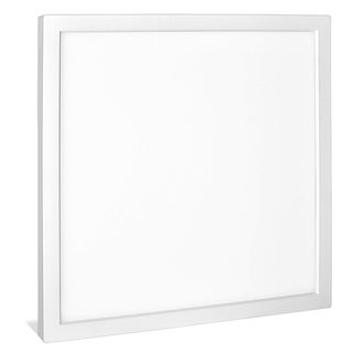 Luxrite 9 Inch Square Surface Mount LED Ceiling Light, 18W, 1200 Lumens, Dimmable, Wet Rated, Energy Star, White Finish
