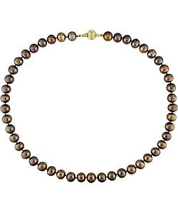 Brown Cultured Freshwater Pearl Necklace (8-9 mm)
