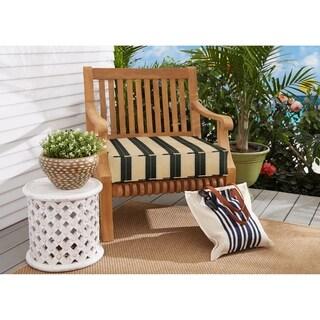 Sunbrella Beige Black Stripe Indoor/Outdoor Deep Seating Cushion, Corded