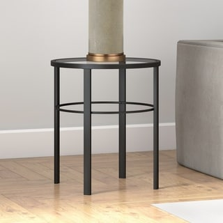 Porch & Den Mauzey Blackened Bronze Finish Side Table