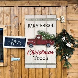 Glitzhome Wooden Truck Wall Decor