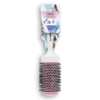 La Sirena Premium Quality Round Ceramic Blush Pink Hair Brushes (2 Inch)