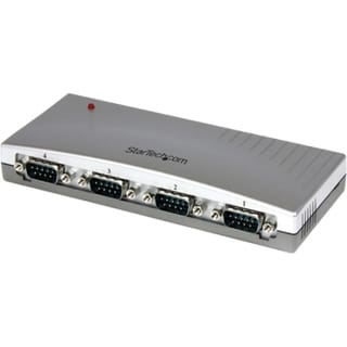 StarTech.com 4 Port USB to RS232 Serial DB9 Adapter Hub