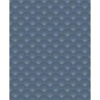 Ecailles Gatsby Blue Wallpaper