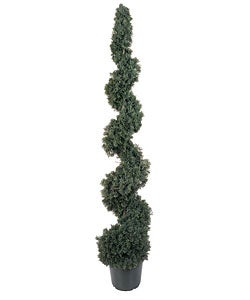 5-foot Silk Cedar Spiral Tree (Indoor/Outdoor)