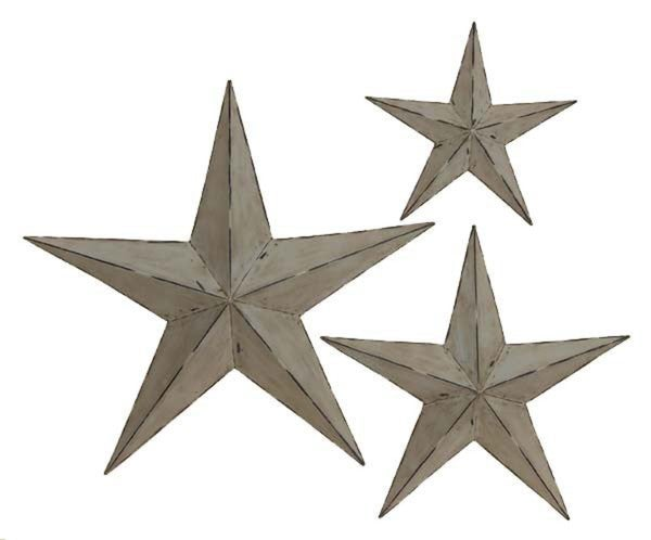 Wall Decor Metal Stars : Handcrafted rustic metal wall decor stars set of