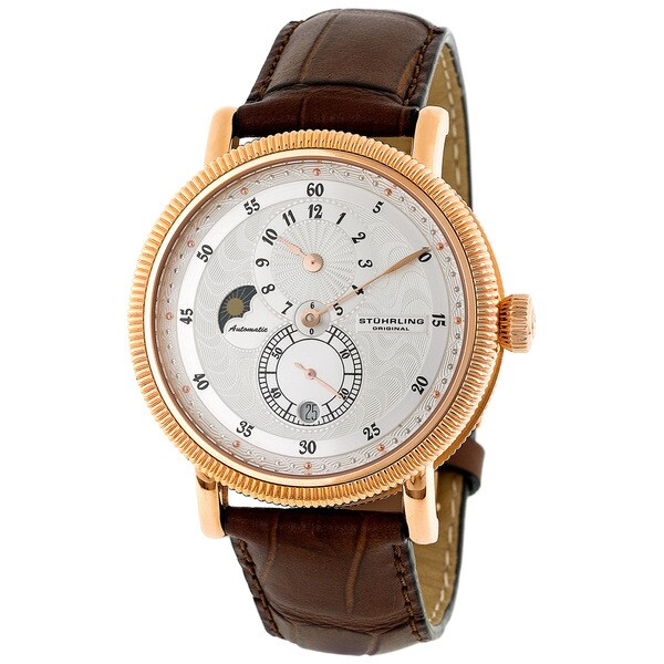 Stuhrling Men's 'Operetta' Rose Gold-Tone Automatic Watch