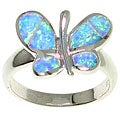 CGC Opal Butterfly Sterling Silver Ring