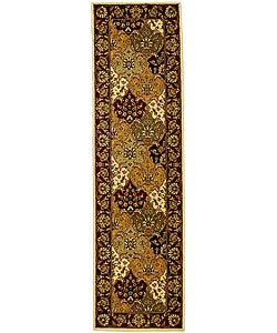 "Lyndhurst Collection Traditional Multicolor/Red Runner (2'3"" x 14')"