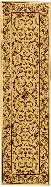 Safavieh Lyndhurst Collection Traditional Ivory/ Ivory Runner (2'3 x 14')