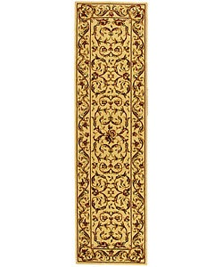 Lyndhurst Collection Traditional Ivory/ Ivory Runner (2'3 x 14')