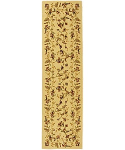 Lyndhurst Collection Floral Beige Runner (2'3 x 14')