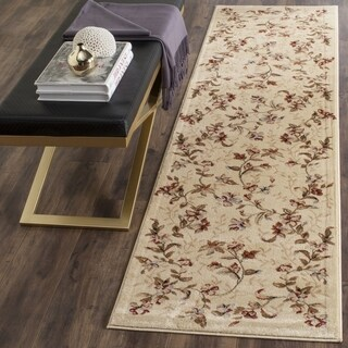 Safavieh Lyndhurst Collection Floral Beige Runner (2'3 x 14')
