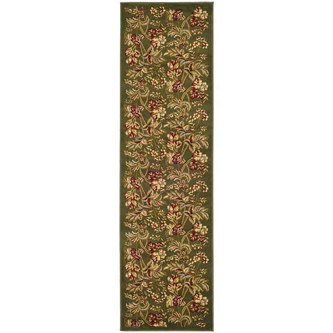 Safavieh Lyndhurst Collection Floral Sage Runner (2'3 x 14')