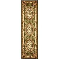 Lyndhurst Collection Aubussons Sage/ Ivory Runner (2'3 x 14')