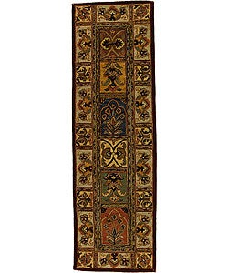 Handmade Classic Bakhtieri Multicolored Wool Rug (2'3 x 14')