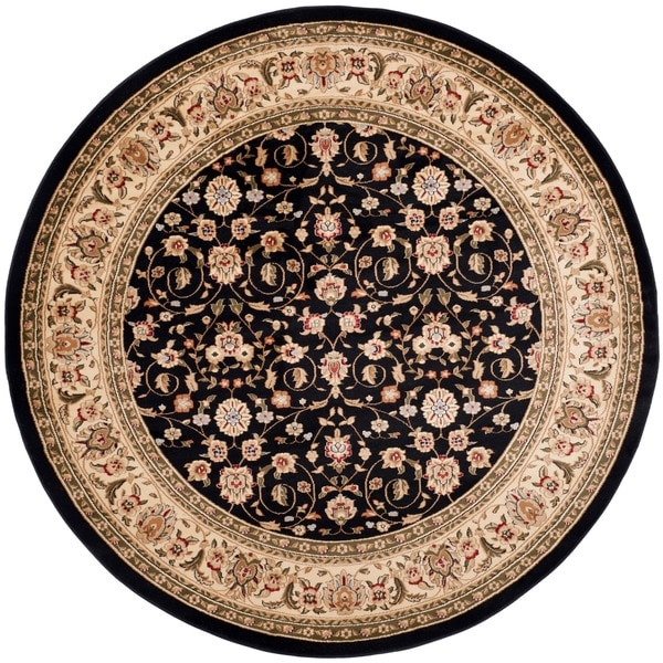 Safavieh Lyndhurst Collection Traditional Black/ Ivory Rug (5' 3 Round)