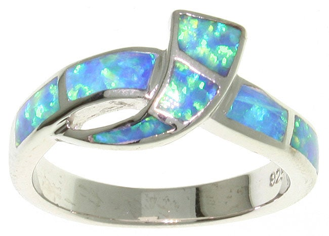 CGC Sterling Silver and Created Opal Ring