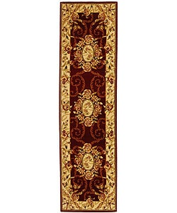 Safavieh Lyndhurst Collection Aubussons Red/ Ivory Runner (2'3 x 14')