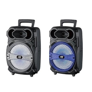 8-Inch Portable Party Speaker with LED Lighting Effects