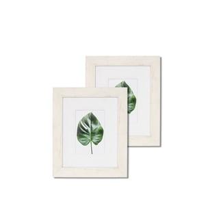 "Monteverde 8""x 10"" Wood w' White Trim Frames - Set of 2"