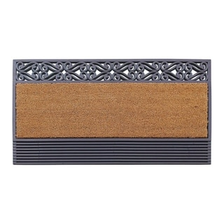 "A1HC First Impression Rubber And Coir Rosewood,Heavy Duty Outdoor Doormat(24""X36"")"