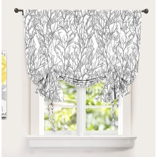 Porch & Den Pagosa Tree Branch Printed Tie-up Shade