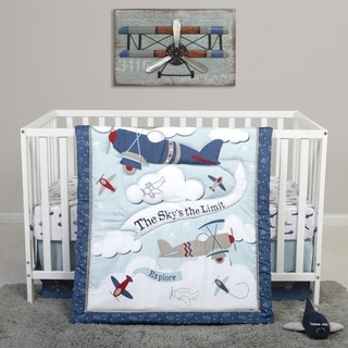 Sammy and Lou Adventure Awaits 4 Piece Crib Bedding Set