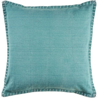 The Gray Barn Piper Down Teal Throw Pillow with Embroidered Edges