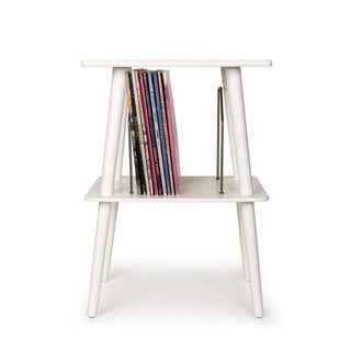 """Manchester Turntable Stand - White - 18.13""""W x 13.5""""D x 25.5""""H"""