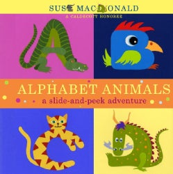 Alphabet Animals: A Slide-and-Peek Adventure (Hardcover)