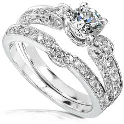 18k Gold 1 5/8ct TDW Round-cut Diamond Bridal Set (IJ, I1-I2)