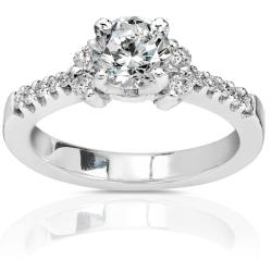 18k Gold 1ct TDW Round-cut Diamond Engagement Ring (IJ, I1-I2)